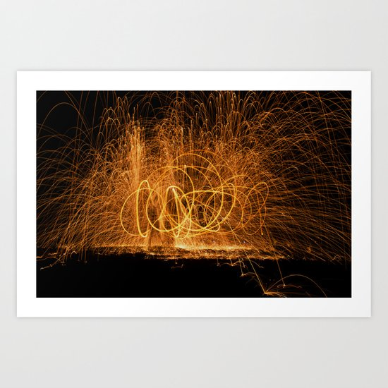 Home made fireworks Art Print