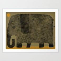 ELEPHANT NAP Art Print