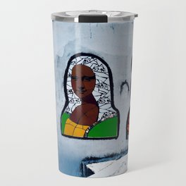 3 Faces of Mona Travel Mug