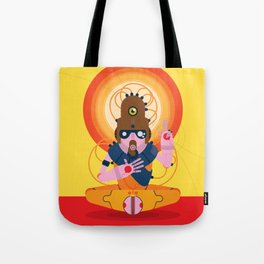 The inscrutable Lord ov Data Tote Bag