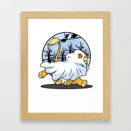 animals happy funny boo funny white halloween Framed Art Print
