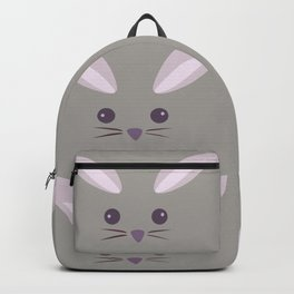 Pattern- Gray Bunny Backpack