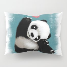Panda Love (Color) Pillow Sham