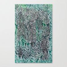 Snow Pines (Green) Canvas Print