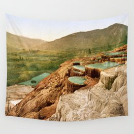 Pulpit Terraces Mountains Wall Tapestry
