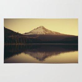 Sunrise at Trillium Lake - Oregon Adventure Rug