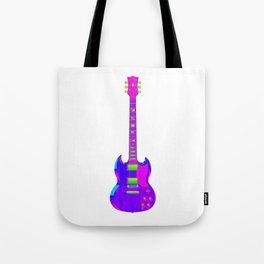 Colorful Guitar Tote Bag