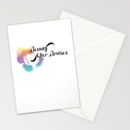 Beauty After Bruises (Black) Stationery Cards