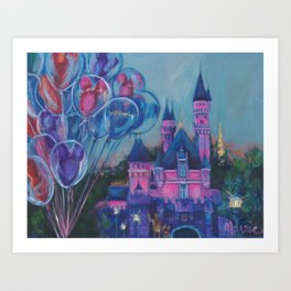 Dusk in the kingdom Art Print