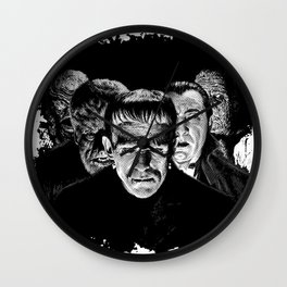 Famous Monsters Silver Screen Edition Wall Clock