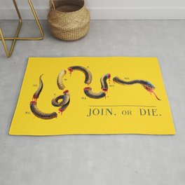 Join, or Die. Rug