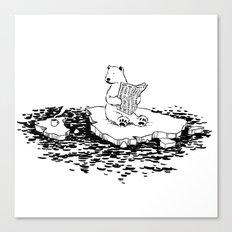 Polar Bear Monday Canvas Print