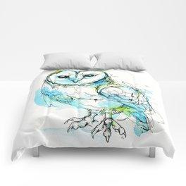 Aqua Tyto Owl Comforters