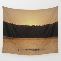 swim Wall Tapestries featuring Last Swim by Jean-Pierre Ducondi