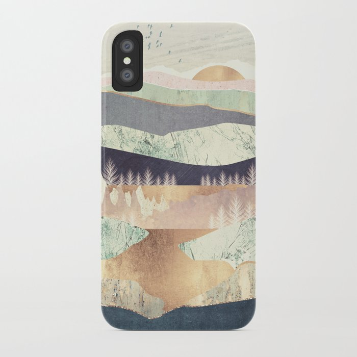Golden Spring Reflection iPhone Case