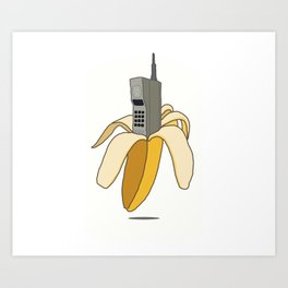 Banana Phone Art Print