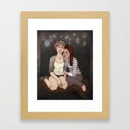 Red & White Framed Art Print