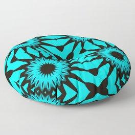 blue & Black Pinwheel Flowers Floor Pillow
