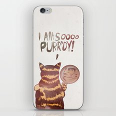 I AM SOOOO PURR'DY! iPhone & iPod Skin