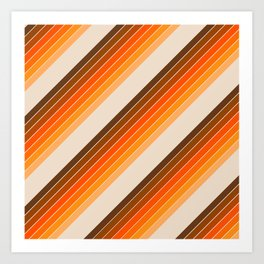 Tan Candy Stripe Art Print