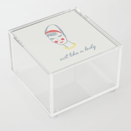 Act like a lady Acrylic Box