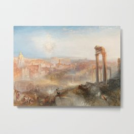 William Turner - Modern Rome Campo Vaccino Metal Print