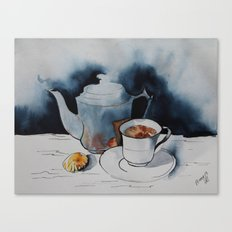 morning coffee Canvas Print