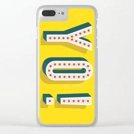 Yo! in Yellow Clear iPhone Case