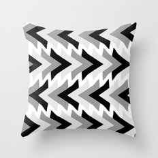 My grey triangles Throw Pillow