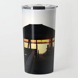 Norwalk, Sheffield Island, Sunset, Connecticut Travel Mug