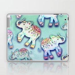 ELEPHANT PARTY MINT Laptop & iPad Skin