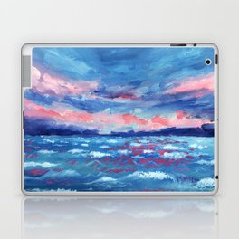 Sea Storm Oil Canvas Laptop & iPad Skin