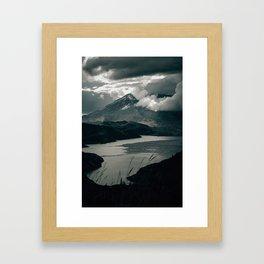 Moody Mount St. Helens Framed Art Print