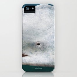 Herman Melville's Moby-Dick - Literary book cover design iPhone Case