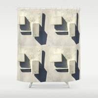 concrete Shower Curtains featuring concrete  by Larry Fulton