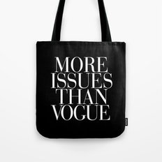 More Issues than Vogue Black Tote Bag