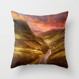 Honister Sundown Throw Pillow