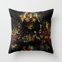 vader Throw Pillows featuring Vader by ururuty
