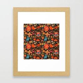 Funny khokhloma pattern Framed Art Print