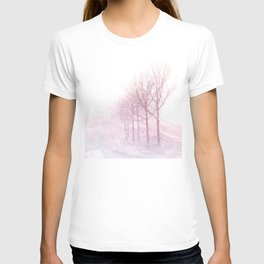 Pink winter trees T-shirt