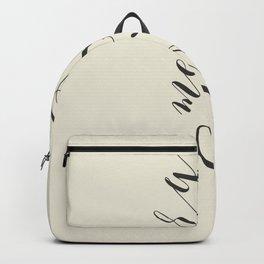 Merry Christmas Typo  #society6 #decor #buyart Backpack