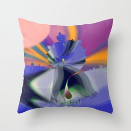 trees around small lake Throw Pillow