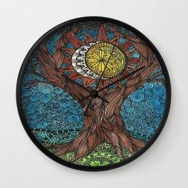 WORLD TREE Wall Clock