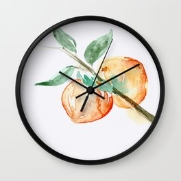 Persimmons Wall Clock