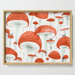 Mycelium Fruiting Bodies by Friztin © 2017 Serving Tray