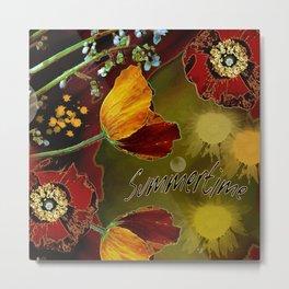 Poppies Garden Metal Print