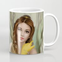 belle Mugs featuring Belle by MartaDeWinter