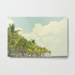 Palm Trees in Paradise Metal Print