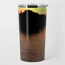 Sunset over the Ponte Vecchio Travel Mug