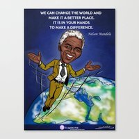 mandela Canvas Prints featuring Mandela by Studio Sanda
